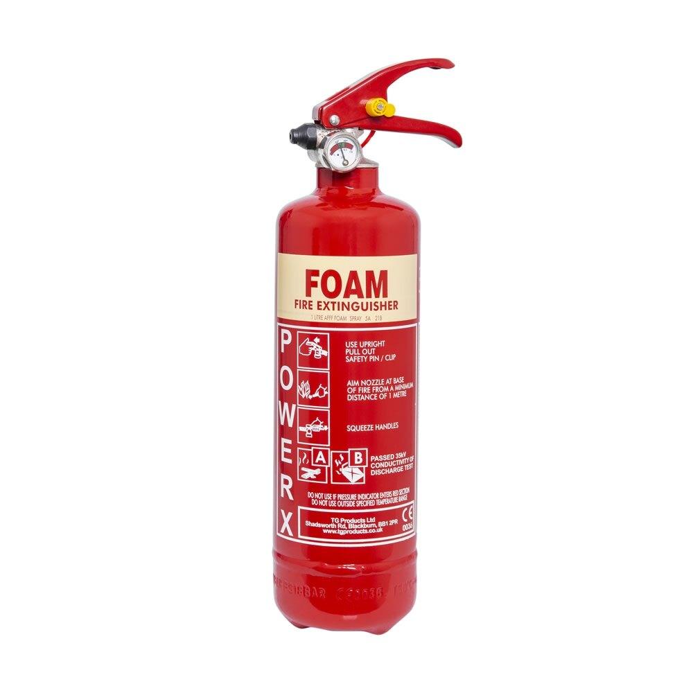 PowerX 1ltr Foam Fire Extinguisher