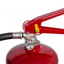 Easy to read pressure gauge and coated steel levers