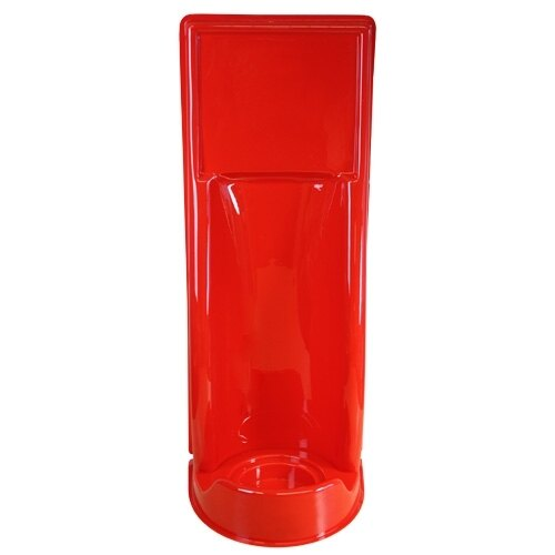 Single universal fire extinguisher stand in red