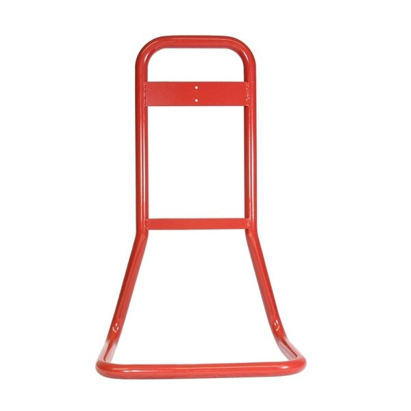Single fire extinguisher stand finished in a red powder coat
