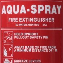 Extinguisher Rating 21A and di-electrically tested