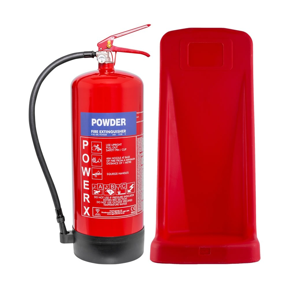 9kg Powder Extinguisher + Stand Special Offer