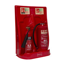 Suitable for 2 x fire extinguishers up to 9kg / 9ltr