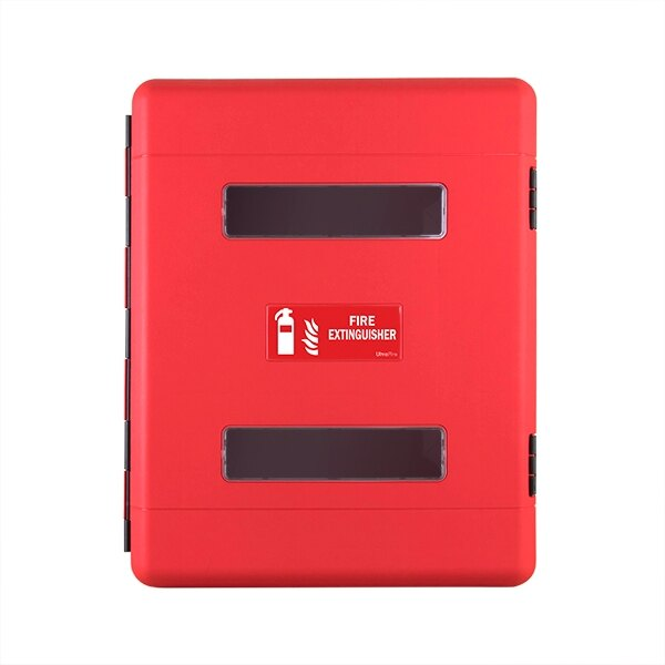 Extinguisher cabinet suitable for 2 x extinguishers up to 9kg / 9ltr