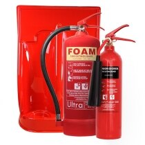 Image of the 2kg CO2 Extinguisher, 6ltr Foam Extinguisher + Double Stand Special Offer