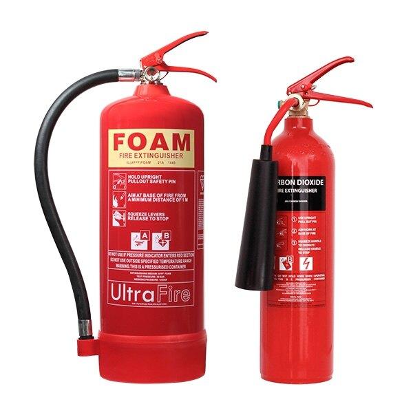 2kg co2 6ltr foam fire extinguisher special offer