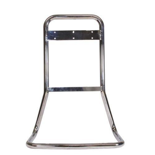 Tubular steel stand finished in polished chrome