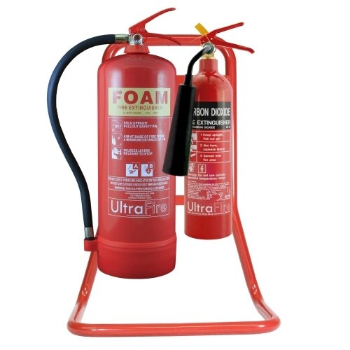 Suitable for 2 fire extinguishers up to 9kg/9ltr in size