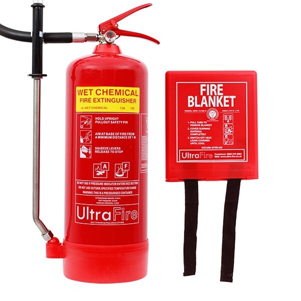 6ltr Wet Chemical Fire Extinguisher + FREE Fire Blanket