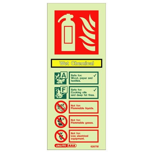 Wet Chemical Fire Extinguisher Wall Sign