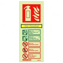 Image of the Wet Chemical Fire Extinguisher Wall Sign