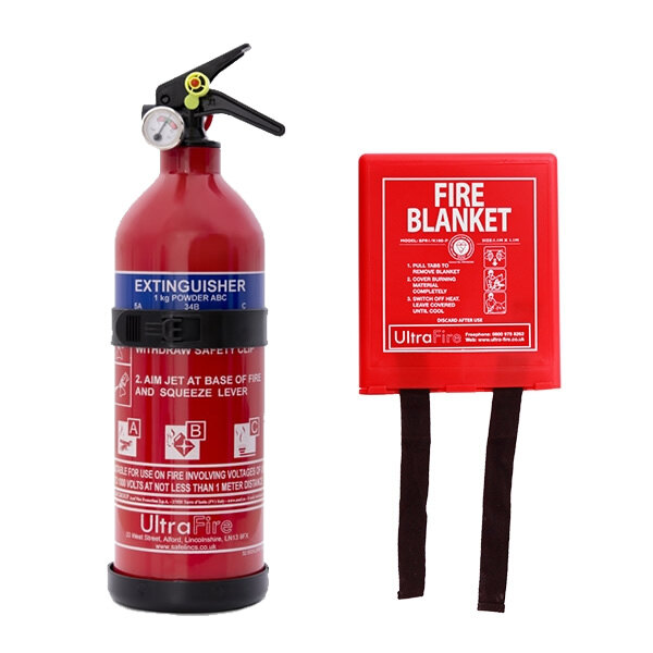 Image of the 1kg Powder Fire Extinguisher + Fire Blanket Offer