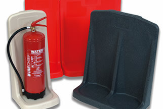 A range of protective storage units suitable for all sizes of extinguishers