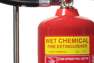 Wet chemical extinguishers are perfect for use in kitchens